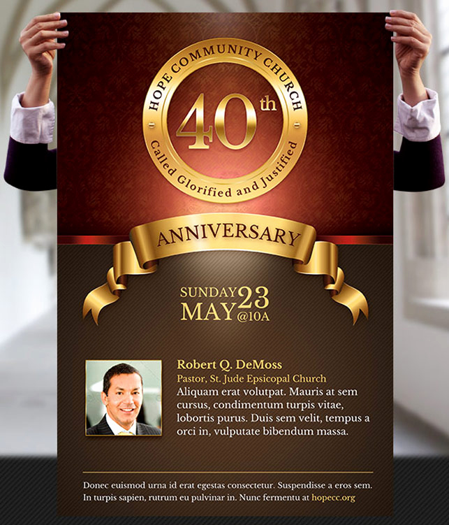 Invitation to Church Service Flyer Awesome Church Anniversary Flyer and Poster Template by Godserv On