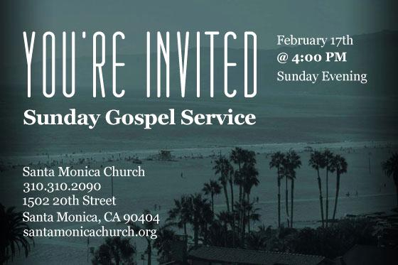 Invitation to Church Service Flyer Awesome You're Invited Santa Monica Church Invites You to their