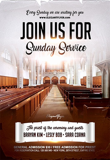 Invitation to Church Service Flyer Best Of Join Us for Sunday Service – Flyer Psd Template – by