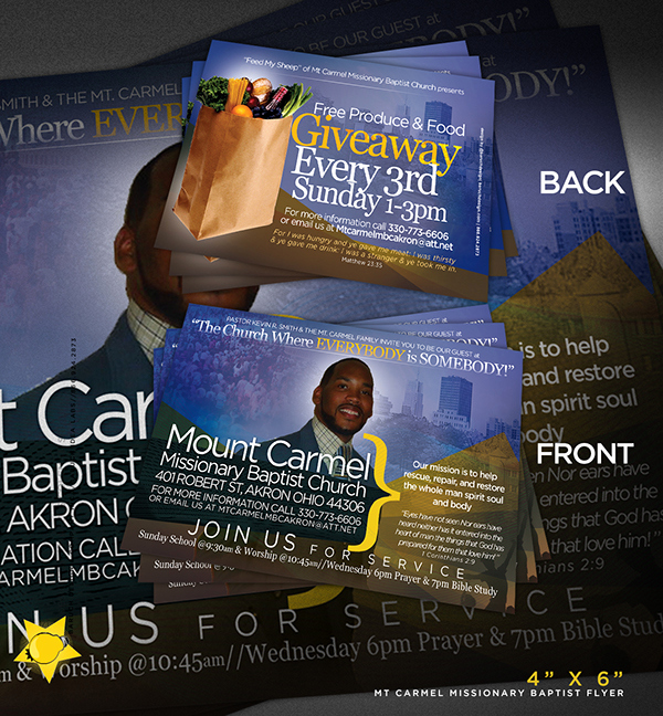Invitation to Church Service Flyer Elegant Mt Carmel Mbc Invitations On Behance