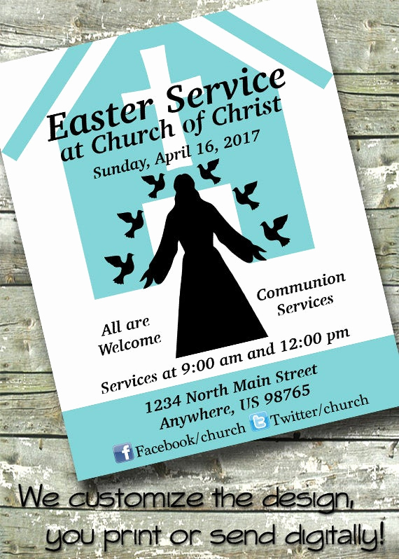 Invitation to Church Service Flyer Inspirational Items Similar to Easter Church Service Church event