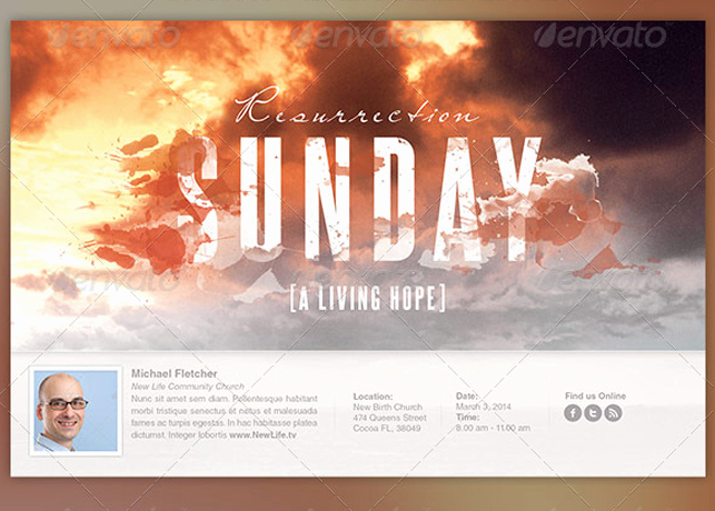 Invitation to Church Service Flyer Lovely Resurrection Sunday Archives