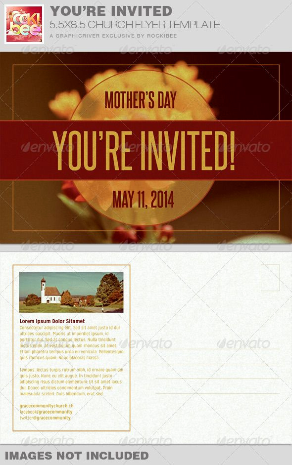 Invitation to Church Service Flyer Lovely You Re Invited Church Flyer Invite Template