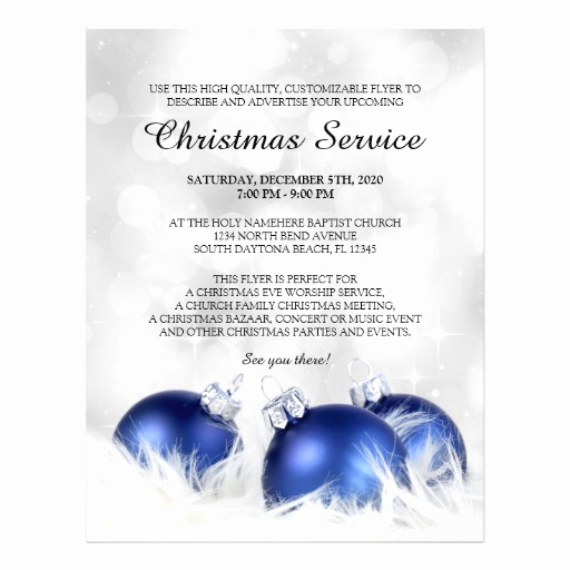 Invitation to Church Service Flyer Luxury Church Christmas Service Flyer Templates