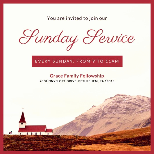 Invitation to Church Service Flyer Unique Customize 389 Church Invitation Templates Online Canva