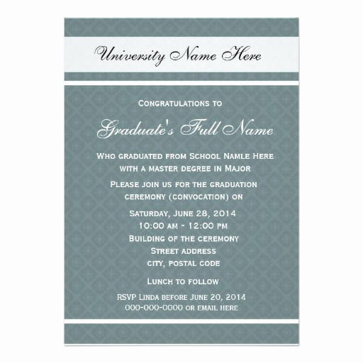 "Invitation to Graduation Ceremony Best Of Invitations for Graduation Ceremony Convocation 5"" X 7"
