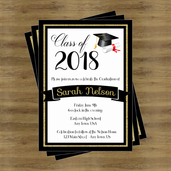 Invitation to Graduation Ceremony Elegant 17 Graduation Ceremony Invitation Designs & Templates