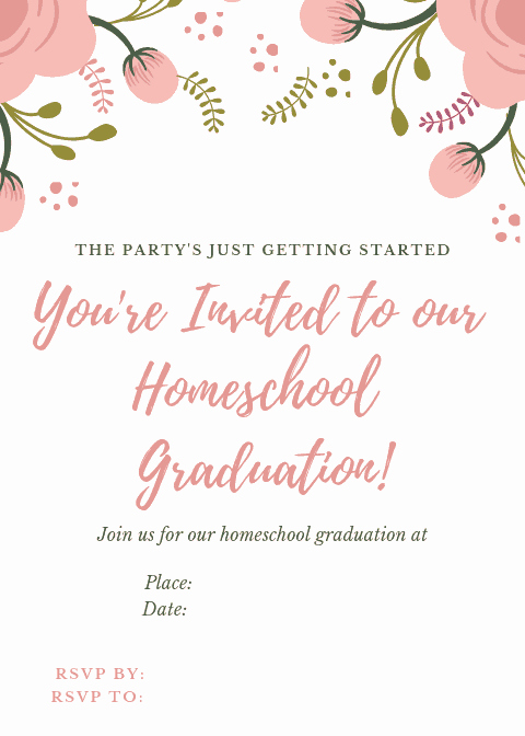Invitation to Graduation Ceremony Elegant How to Plan A Homeschool Graduation Ceremony Creative
