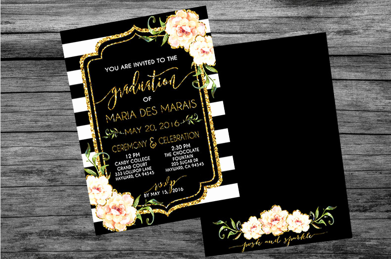 Invitation to Graduation Ceremony Inspirational Graduation Ceremony & Celebration Invitation Customizable