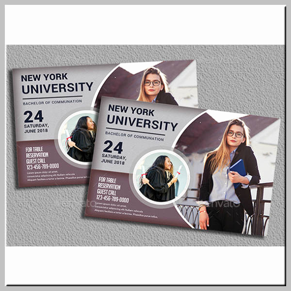 Invitation to Graduation Ceremony Luxury 17 Graduation Ceremony Invitation Designs & Templates