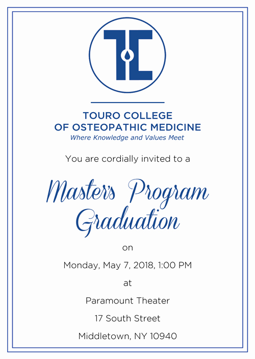 Invitation to Graduation Ceremony Luxury Middletown Master Of Science Class Of 2018 Mencement