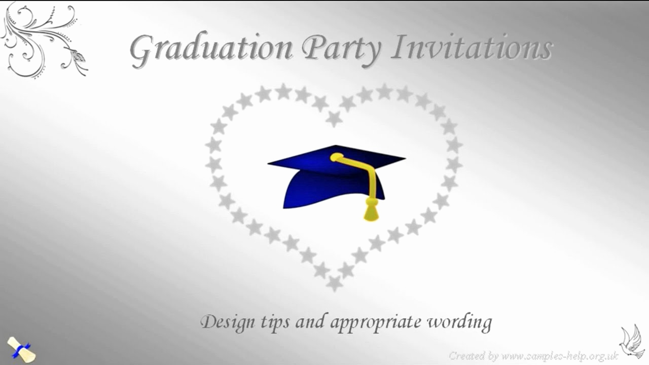 Invitation to Graduation Party Awesome Graduation Party Invitation Wording