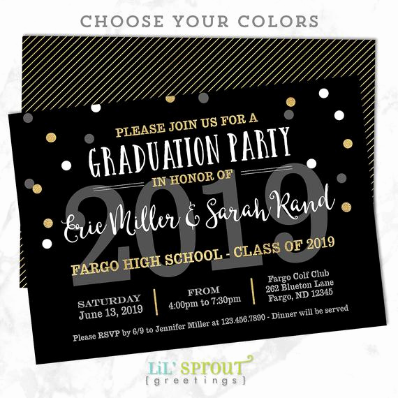 Invitation to Graduation Party Best Of Printable Graduation Invitation Joint Graduation Party