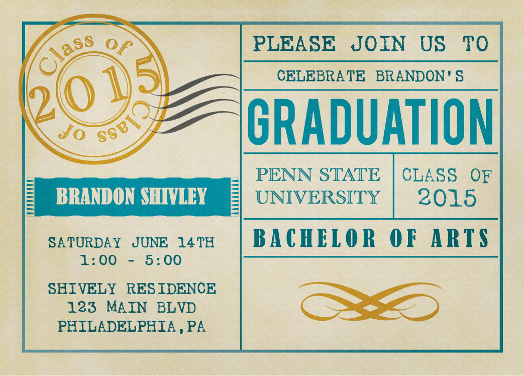 Invitation to Graduation Party Best Of Vintage Postcard Graduation Party Invitations by