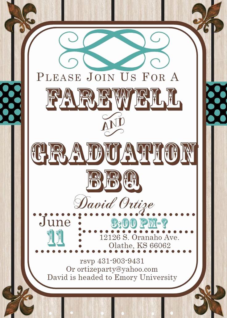 Invitation to Graduation Party Inspirational Best 25 Farewell Invitation Ideas On Pinterest