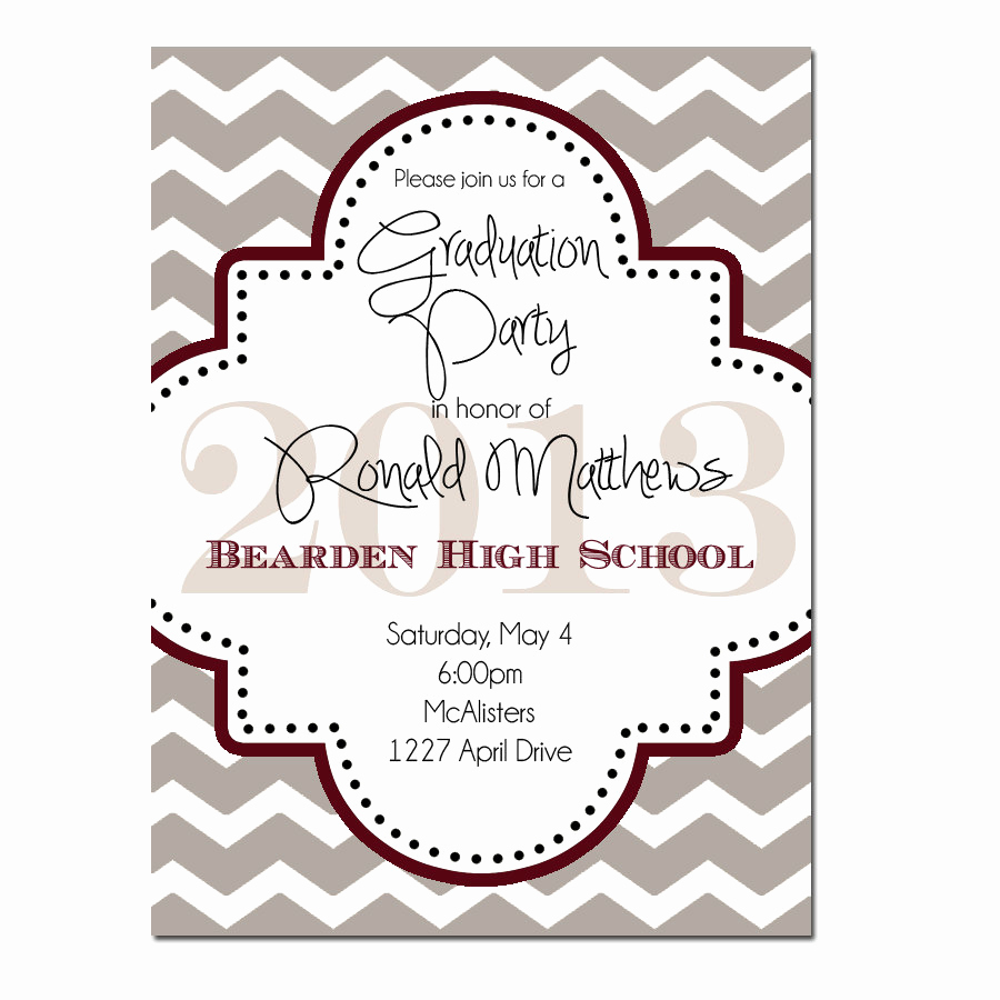 Invitation to Graduation Party Lovely Graduation Party Invitation Digital File or Printed
