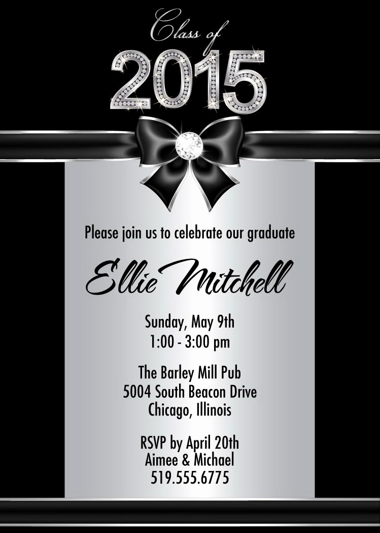 Invitation to Graduation Party New Silver Graduation Party Invitations Diamond Graduation