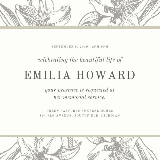 Invitation to Memorial Service Awesome Customize 40 Funeral Invitation Templates Online Canva