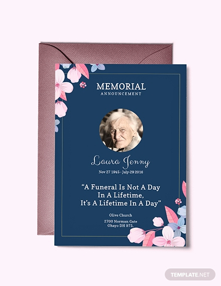 Invitation to Memorial Service Awesome Free Funeral Service Invitation Template Download 518