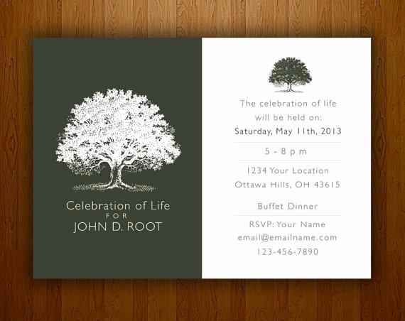 Invitation to Memorial Service Beautiful Memorial Notice Bespoke Prints