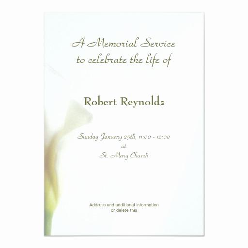 Invitation to Memorial Service Beautiful Memorial Service Announcement