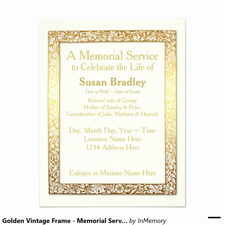 Invitation to Memorial Service Best Of 17 Best Images About Memorial Service On Pinterest