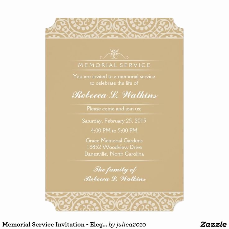 Invitation to Memorial Service Elegant 17 Best Images About Memorial Service On Pinterest