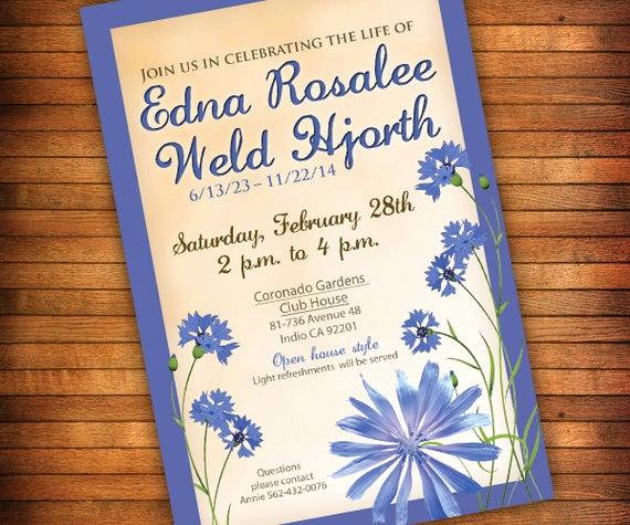Invitation to Memorial Service Fresh Celebration Of Life Invitation Memorial Invitation Funeral