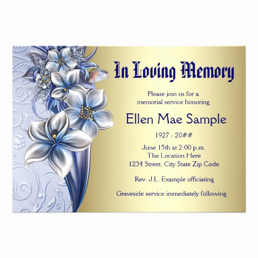 Invitation to Memorial Service Lovely 1 000 Memorial Service Invitations Memorial Service