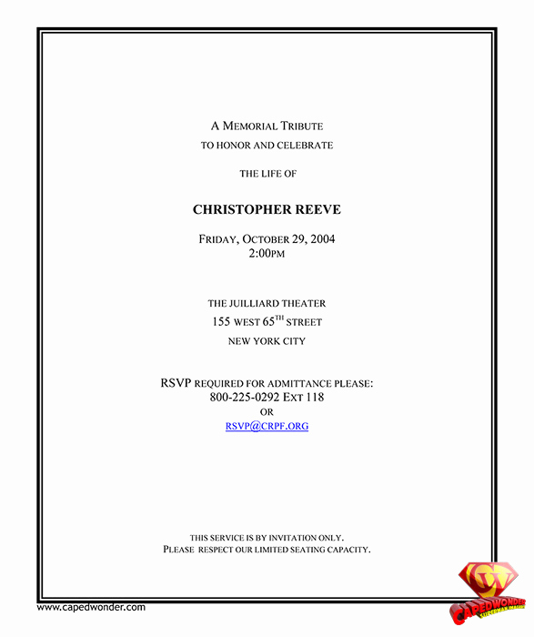 Invitation to Memorial Service Lovely In Memory Invitations