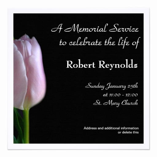 Invitation to Memorial Service Lovely Memorial Service Announcement
