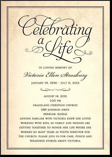 Invitation to Memorial Service New 78 Images About Memorial Celebration Of Life Ideas On