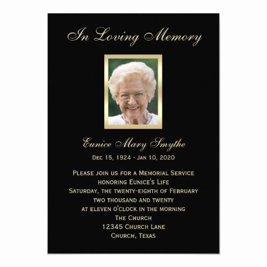 Invitation to Memorial Service New Memorial Service Announcement Invitations