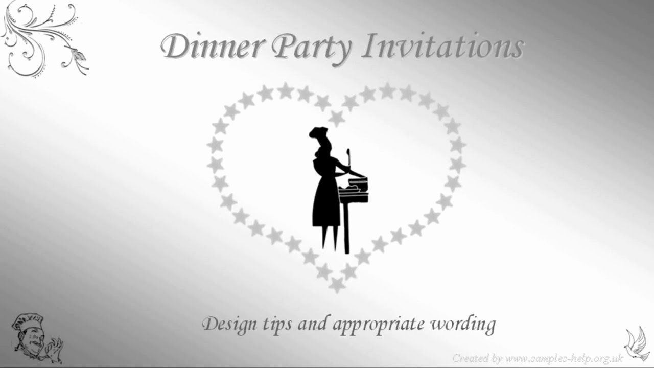 Invitation Wording for Parties Fresh Dinner Party Invitation Wording