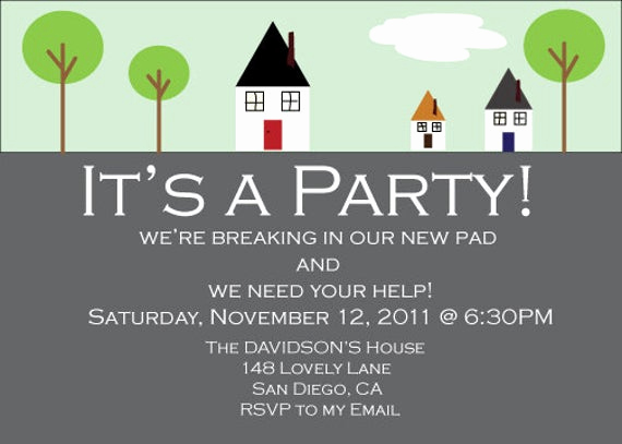 Invitation Wording for Parties Fresh House Warming Party Invitation