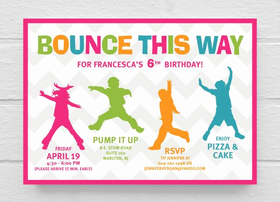 Invitation Wording for Parties Inspirational Wording Idea for Bailee & Rowdys Party Printable Bounce