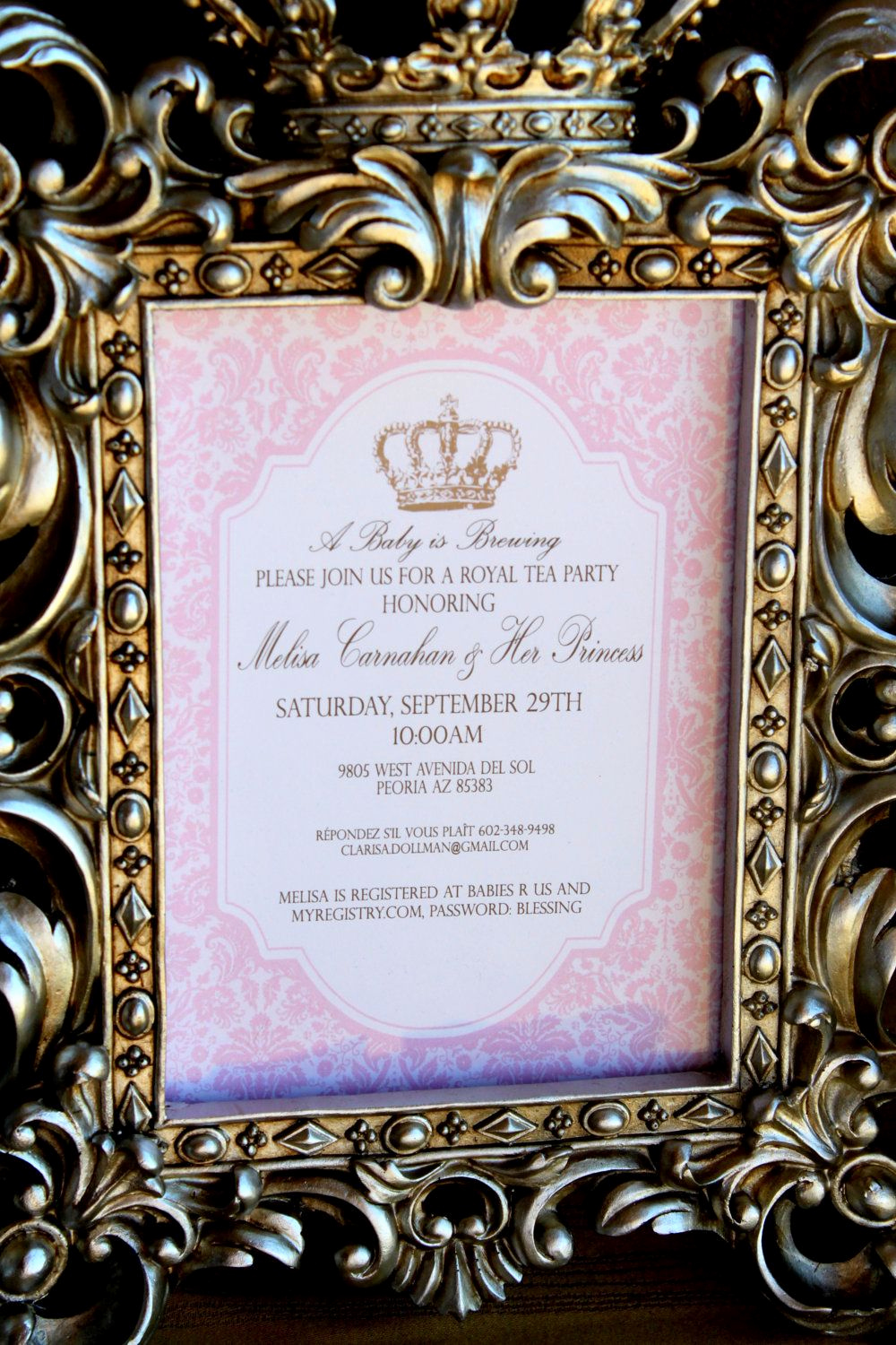 Invitation Wording for Parties Luxury Royal Tea Party Invitation Girls Birthday Baby