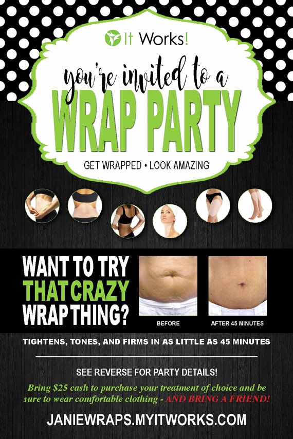 It Works Wrap Party Invitation Beautiful whether Youre New to It Works or A Seasoned Veteran