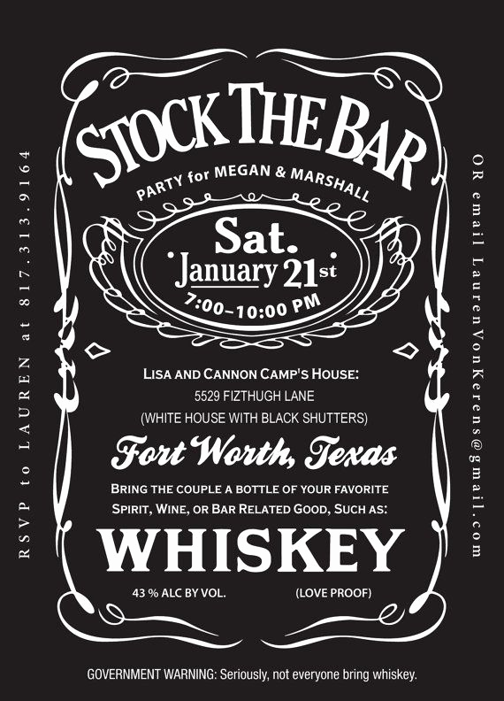 Jack Daniels Birthday Invitation Awesome Exact Invitation sold On Etsy Jack Daniels Stock the Bar