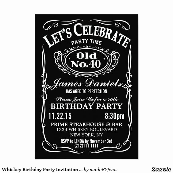Jack Daniels Birthday Invitation Beautiful Jack Daniels Whiskey Birthday Party Invitation