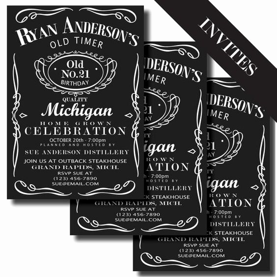 Jack Daniels Birthday Invitation Best Of Jack Daniels Label Printable Birthday by