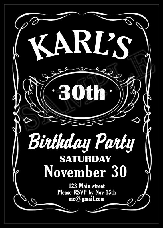 Jack Daniels Birthday Invitation Best Of Printable Jack Daniels themed Birthday Party Invitation