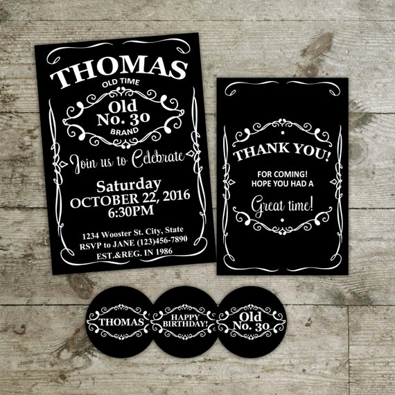 Jack Daniels Birthday Invitation Inspirational Jack Daniels Birthday Invitation Invitation Card Adult by
