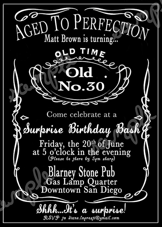Jack Daniels Birthday Invitation Luxury Custom Jack Daniels Whiskey Invitation by