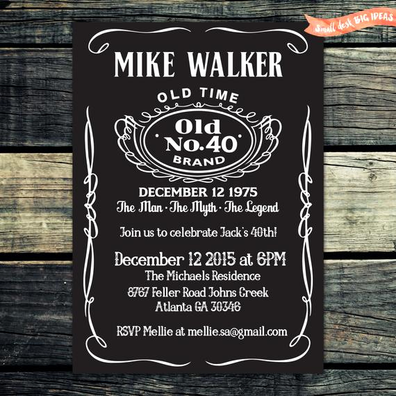 Jack Daniels Birthday Invitation New Jack Daniels Birthday Invitation Chalkboard by