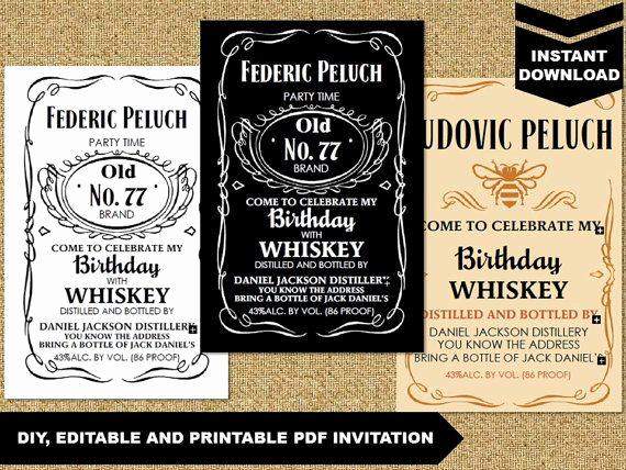 Jack Daniels Invitation Template Free Beautiful Diy Editable and Printable Pdf Invitation Jack by Whiteddy