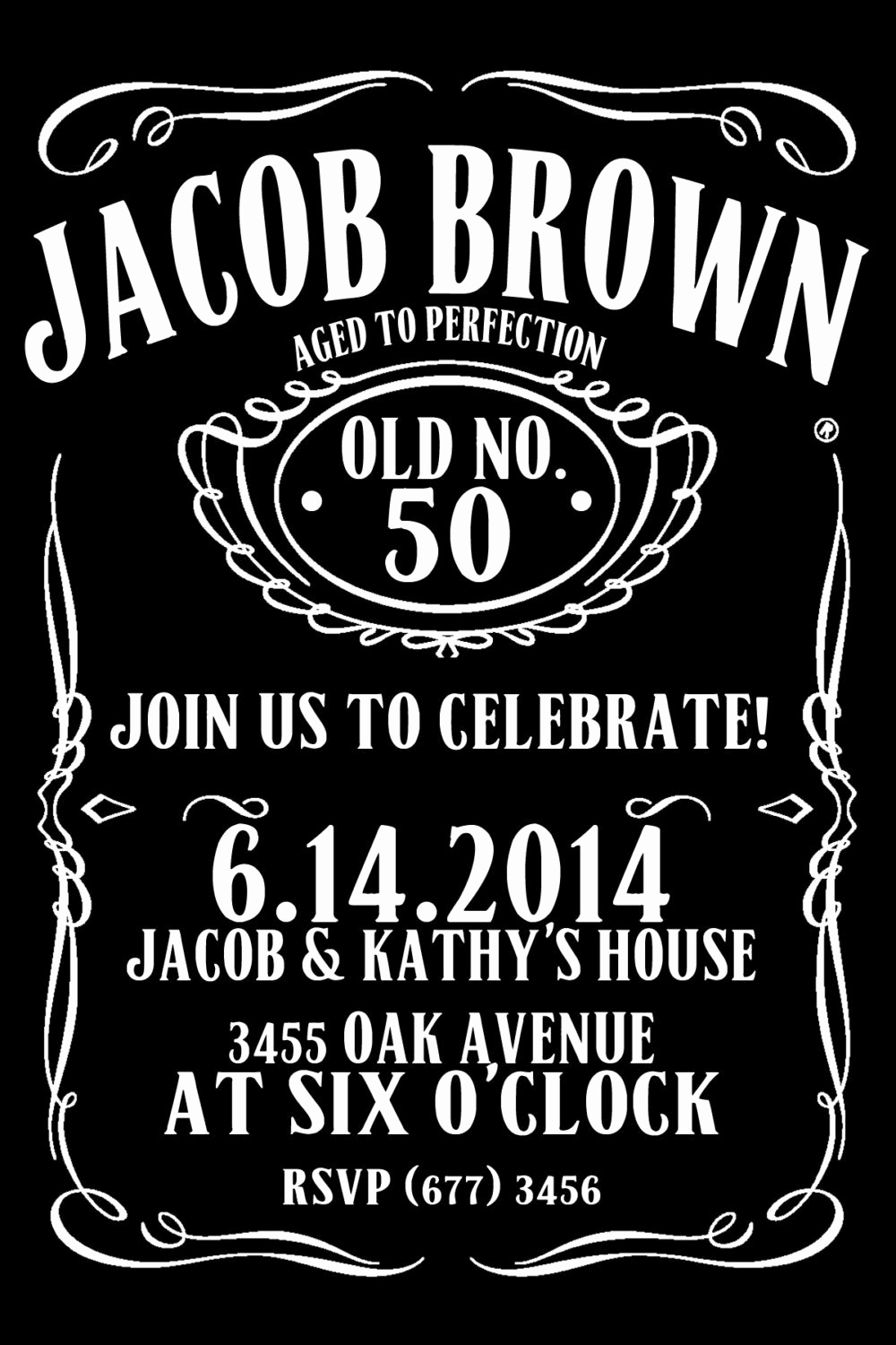 Jack Daniels Invitation Template Free Beautiful Items Similar to Jack Daniels Style Birthday Invitation