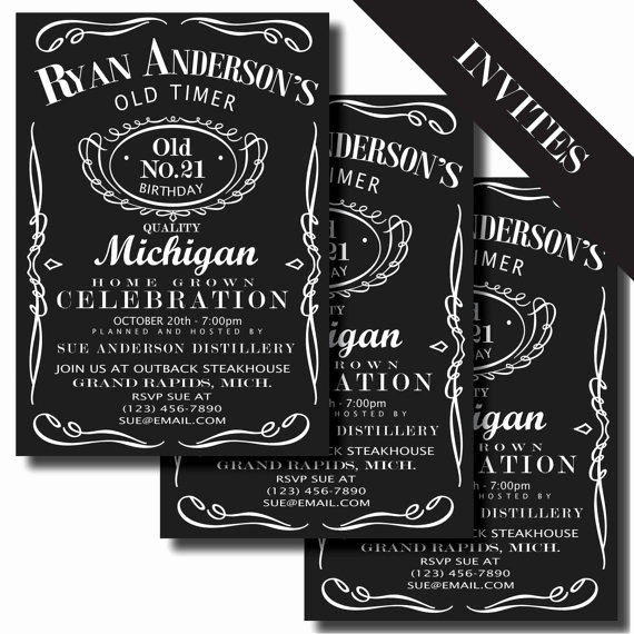 Jack Daniels Invitation Template Free Beautiful Jack Daniels Label Printable Birthday From