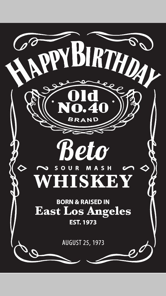Jack Daniels Invitation Template Free Best Of Jack Daniel S themed Poster for A Client S 40th Birthday