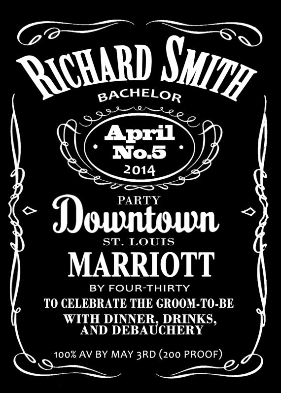 Jack Daniels Invitation Template Free Fresh Jack Daniels Whiskey Bachelor or Bachelorette Style Post